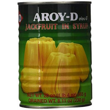 Aroy-D Jackfruit in Syrup, 20 Ounce (Pack of 6)