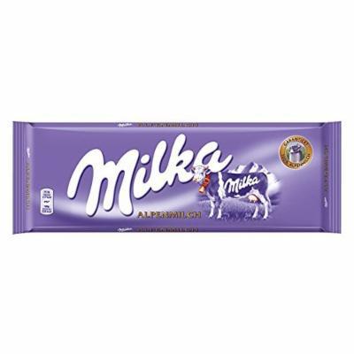 Milka Alpenmilch Milk Chocolate, Large Bar 300g
