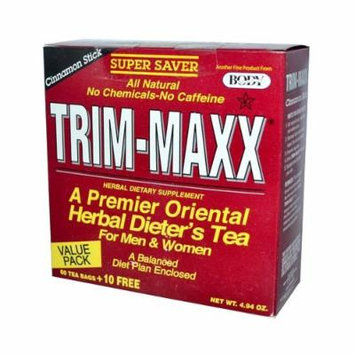 Body Breakthrough Trim-Maxx Herbal Dieter's Tea Cinnamon Stick - 70 Tea Bags, 4.94 oz by Body Breakthrough