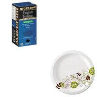 KITBTC10357DXEUX9WSPK - Value Kit - Bigelow Single Flavor Tea (BTC10357) and Dixie Pathways Mediumweight Paper Plates (DXEUX9WSPK)
