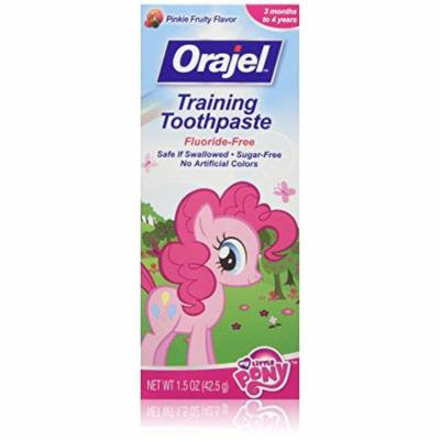 3 Pack Orajel Toddler My Little Pony Training Toothpaste Pinky Fruity 1.5oz Ea