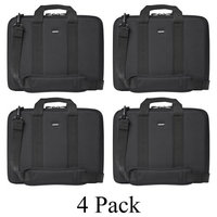 4 Pack Cocoon CLB403 Laptop Notebook Carry Case Sleeve Breifcase-Black/Yellow