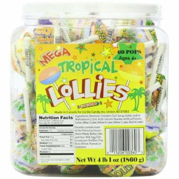 Mega Tropical Lollies, 4 Lb, 60 Ct