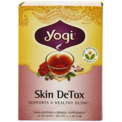 Yogi Skin DeTox, Herbal Tea Supplement, 16-Count Tea Bags (Pack of 6), Garden, Lawn, Maintenance