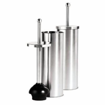 Oggi Satin Finish Stainless Steel 14.5 Inch Toilet Plunger and Holder