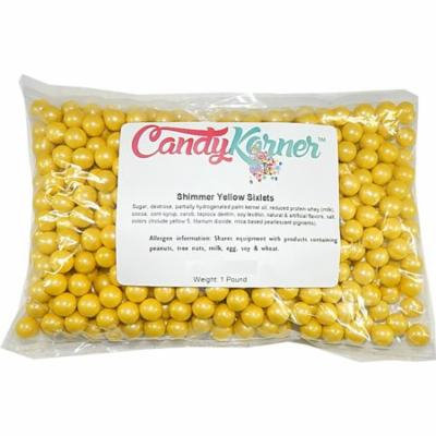 Sweetworks Sixlets Shimmer Yellow 1 Pound ( 16 OZ )