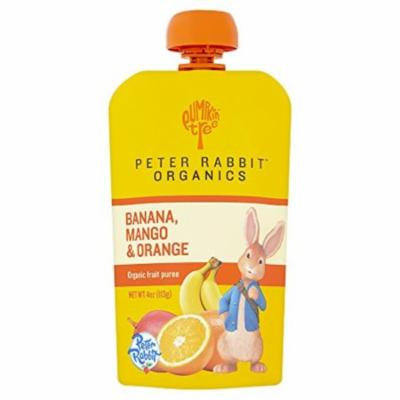 Peter Rabbit Organics Banana, Mango and Orange Puree, 4-Ounce (Pack of 10)
