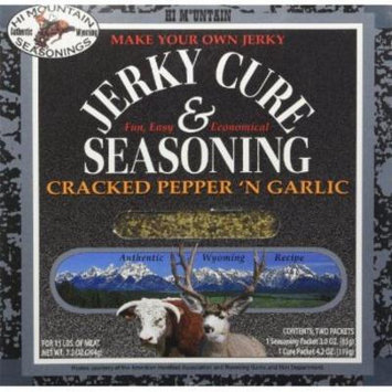 Hi Mountain Jerky Cracked Pepper 'n Garlic Jerky Blend, 7.2-Ounce Boxes