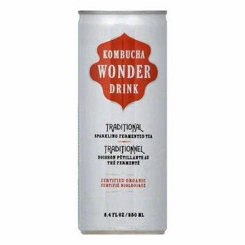 Kombucha Wonder Drink Drink Traditional Tea Can, 8.4 FO (Pack of 24)