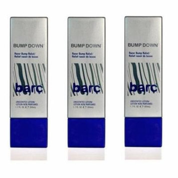 Barc Bump Down Razor Bump Relief, Alcohol-Free, Unscented Lotion, 1.7 Oz (Pack of 3)