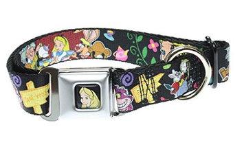 Buckle Down Disney Alice in Wonderland Encounters Logo Dog Collar Medium 11-17