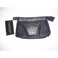 Supernatural Metal Badge Symbol Cosmetic Bag (Black)