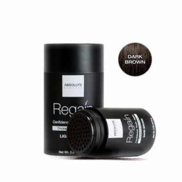 (6 Pack) ABSOLUTE Regain Hair Fiber Medium Size Dark Brown