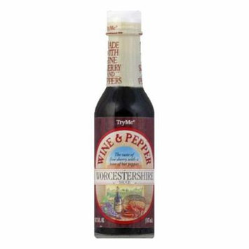 Try Me Wine & Pepper Worcestershire Sauce, 5 OZ (Pack of 6)