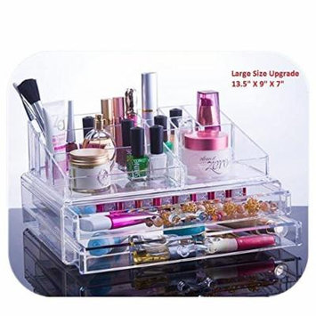 Unique Home Acrylic Jewelry and Cosmetic Storage Makeup Organizer, Jewelry/Cosmetics, Clear