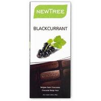 NEWTREE 20003 2.82 oz. Organic Black Currant Dark Chocolate Bar-Pack of 4