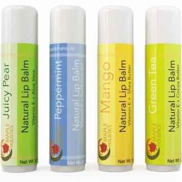 Maple Holistics Flavored Lip Balm, Therapeutic Lip Repair, Natural Lip Care Product, 4 Pack