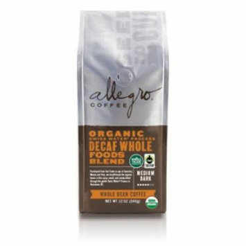Allegro Ground Coffee 2, 12 oz Bags (Decaf Organic Whole Foods Blend)