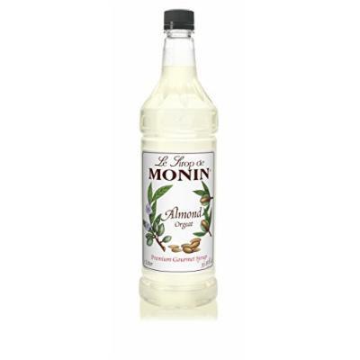 Monin Almond Syrup, 33.8-Ounce Plastic Bottle (1 Liter)