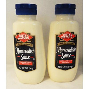 Dietz & Watson Horseradish Sauce 12 oz 2 bottles