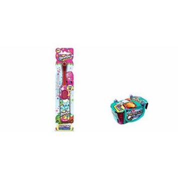 Shopkins Electric Toothbrush and Bonus Shopkins Season 3 Single Blind Basket Bundle- 2 items
