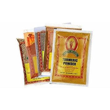 Laxmi Indian Spice Pack - 5 Essential Spices (Cumin, Garam Masala & More)