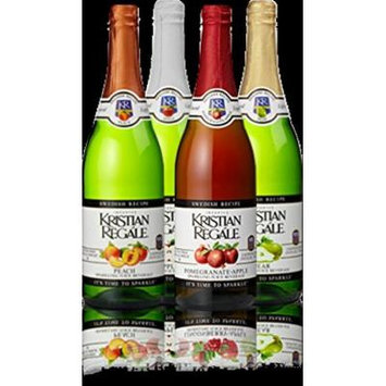 Kristian Regale Sparkling Fruit Juices 4 Packs (All American Variety Pack)