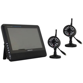 ZTOP 7 Inch LCD Wireless Video Baby Monitor Two Night Vision Remote Cameras Wireless Baby Monitor