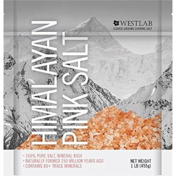 Westlab Himalayan Salt Gourmet Pink Coarse Ground 5 lbs- 5Pack x 1lb Resealable Pouches -Perfect for Grinder Refills …