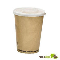 Packnwood 210PLAS8 Soup Cup with Rippled Kraft Design - 8 oz