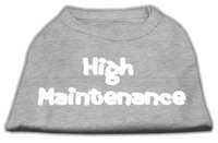 Mirage Pet Products 5127 XLGY High Maintenance Screen Print Shirts Grey XL 16
