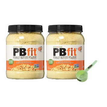 PBfit All-Natural Peanut Butter Powder, 30 Ounce- 2 Pack Bundle with Exclusive InPrimeTime Scoop