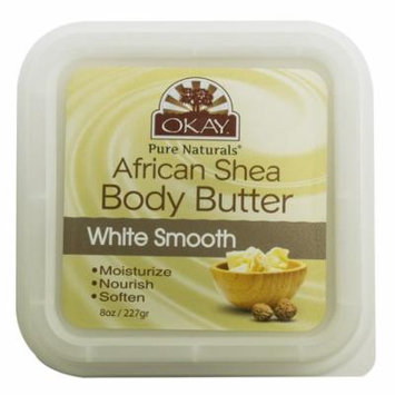 Okay Shea Butter Deep Moisturizing Body Butter, White Smooth, 8 Oz