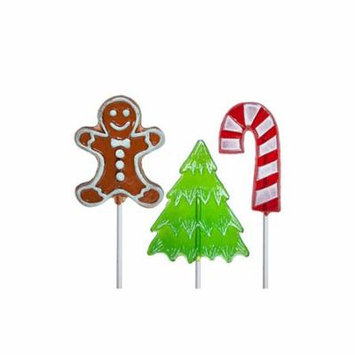 Frosted Holiday Assortment of 3 Lollipops, 24 Count