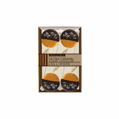 Gourmet Chocolate Dipped Salted Caramel Lollipops 4 Pack, 3 Count