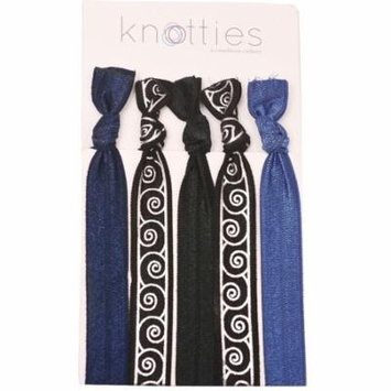 Condition Culture Girls Black Blue Snail Pattern Knotties Hair Ties