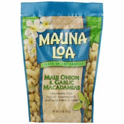 Mauna Loa Macadamias, Maui Onion & Garlic, 11-Ounce Packages