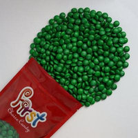 m&m Dark Green Milk Chocolate Candy 1 Pound Resealable Pouch Bag