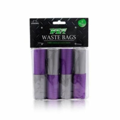 Nandog WBR-7708-PU-GY 8 Pack Waste Bag Replacement Purple-Grey Two -Tone Solids