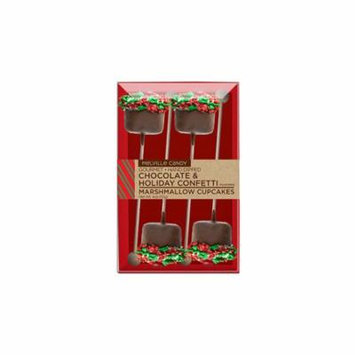 Marshmallow Cupcakes Milk Chocolate and Holiday Confetti Lollipops 4 Pack, 3 Count