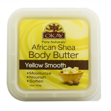 Okay Shea Butter Deep Moisturizing Body Butter, Yellow Smooth, 16 Oz