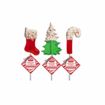 Chocolate Dipped Holiday Red and Green Lollipops, 24 Count