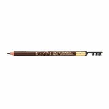 IMAN Perfect Eyebrow Pencil, Blackest Brown 0.05 oz (Pack of 3)