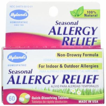 4 Pack Hyland's Seasonal Allergy Relief, Non Drowsy, 60 Tablets Each = 240