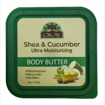 Okay Ultra Moisturizing Body Butter, Shea & Cucumber, 8 Oz