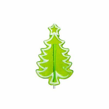 Whimsical Holiday Frosted Tree with Star Lollipop, 24 Count