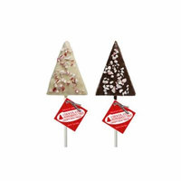 Rice Treat Tree Lollipop Assortment White and Dark Chocolate with Peppermint, 24 Count