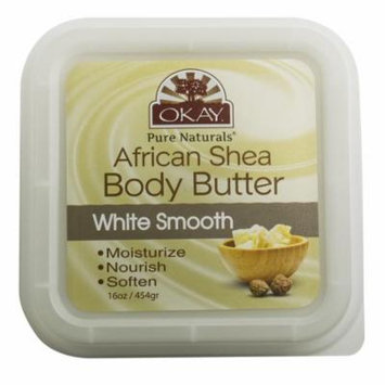 Okay Shea Butter Deep Moisturizing Body Butter, White Smooth, 16 Oz