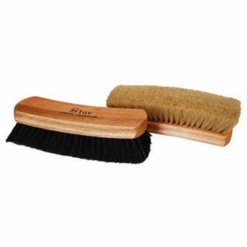 Professional Quality LARGE Shoe Shine Buffing Brush 100% Horse Hair Wood Handle