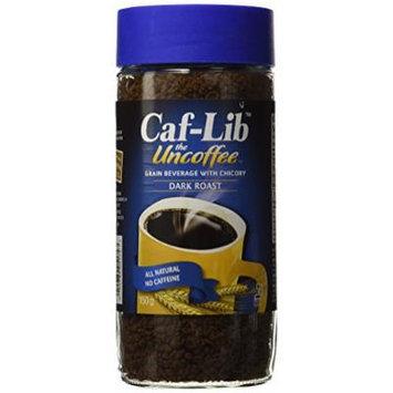 Caf-Lib Dark Roast Coffee Alternative with Barley and Chicory 150-Gram